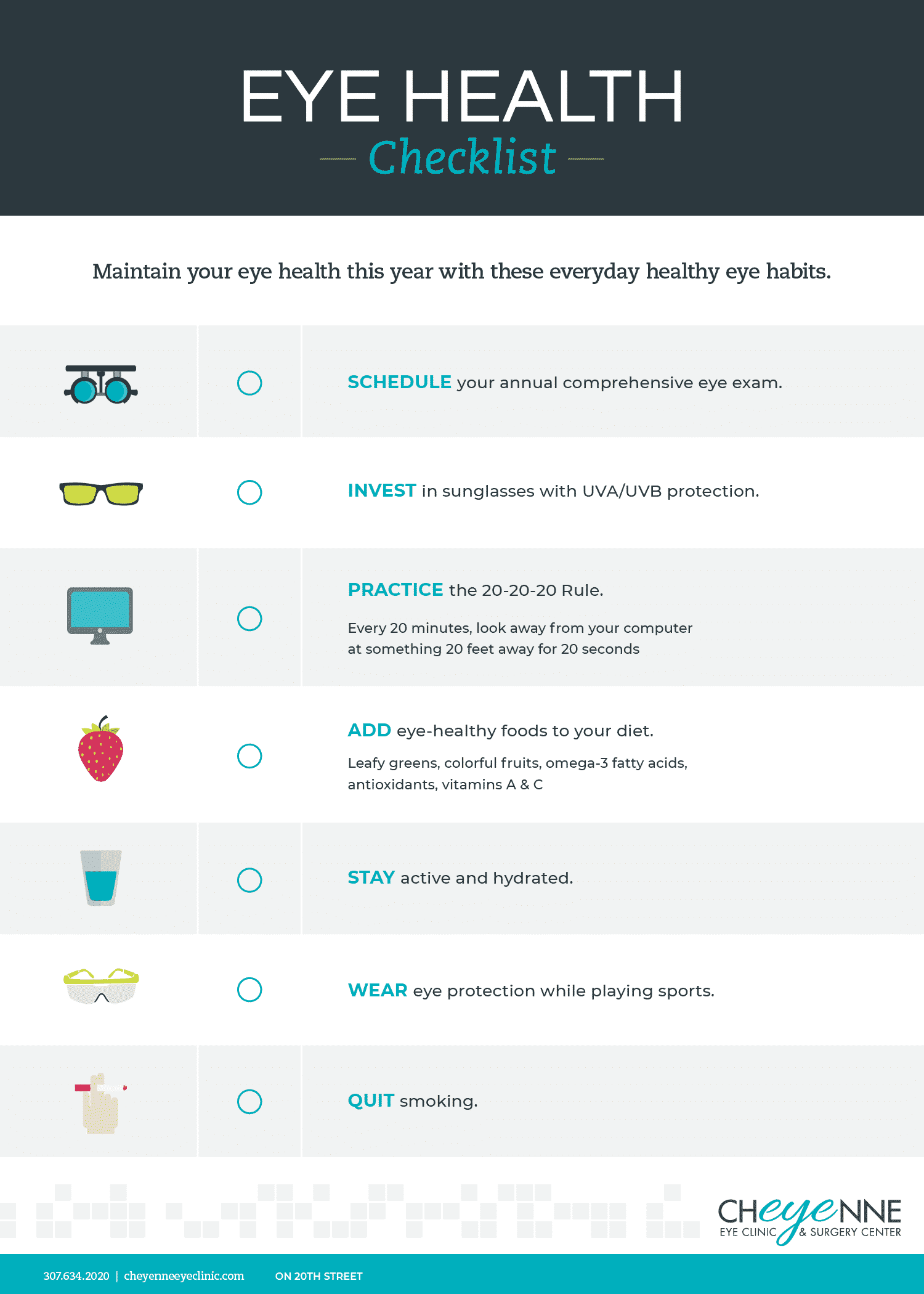 eye health checklist inforgraphic